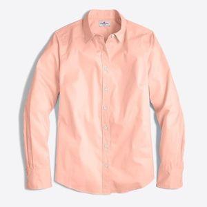 J.Crew Pink Stretch Classic Button Down Shirt S